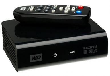 WD TV met afstandsbediening