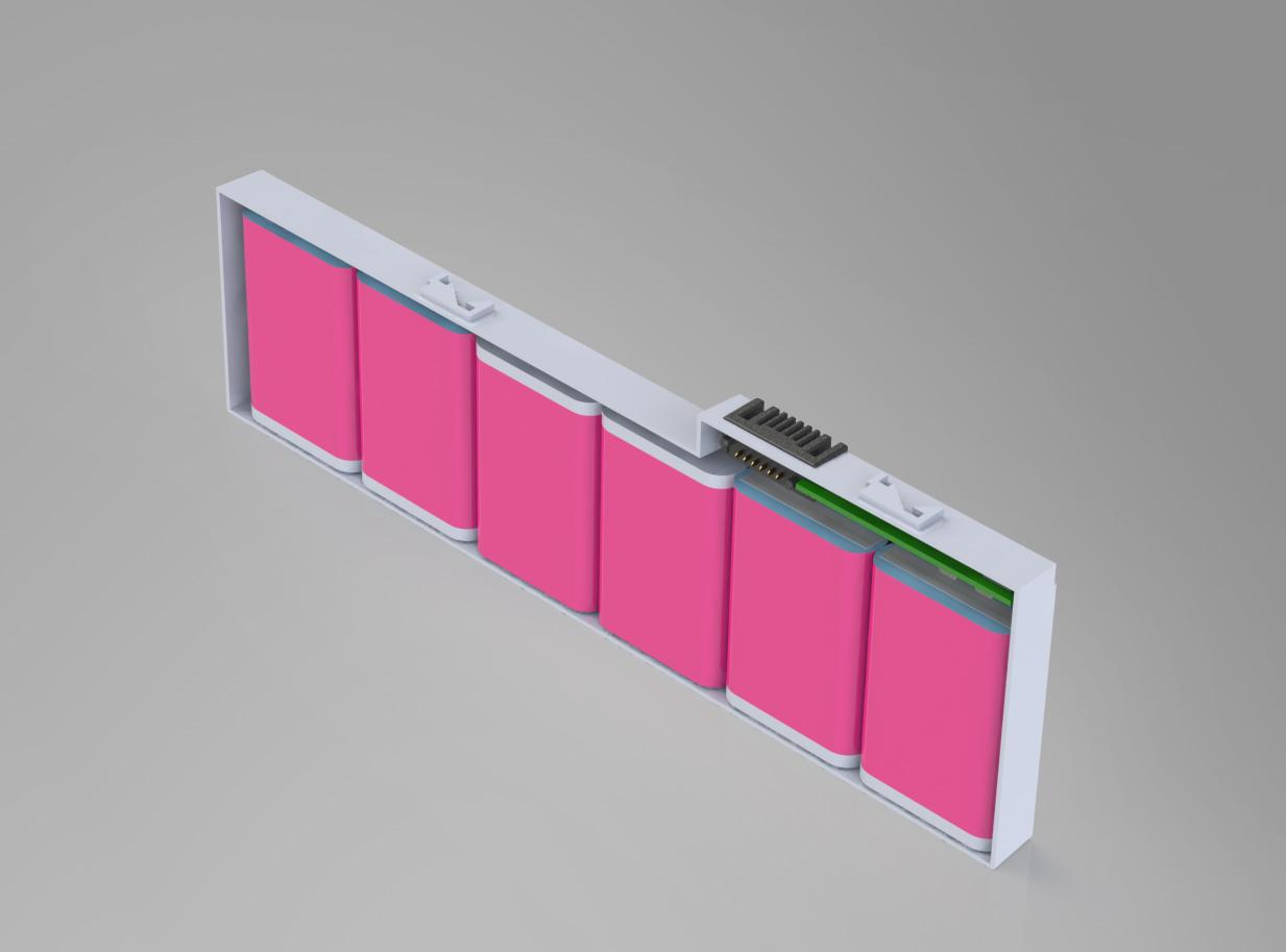 Solidworks render van een 2730p Tablet accu.