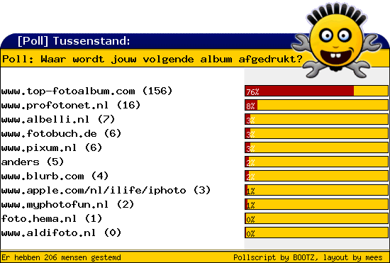 http://poll.dezeserver.nl/results.cgi?pid=375640&layout=2&sort=prc
