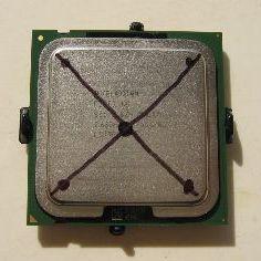 Markering op heatspreader ter indicatie progressie verwijderen nikkellaag