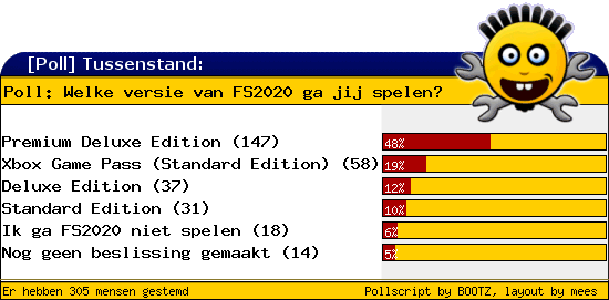 http://poll.dezeserver.nl/results.cgi?pid=402900&layout=2&sort=prc