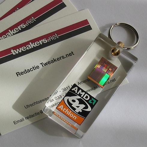 Jack's sleutelhanger met AMD64-core.