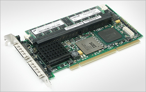 LSI Logic MegaRAID 320-2X 512MB (groot)
