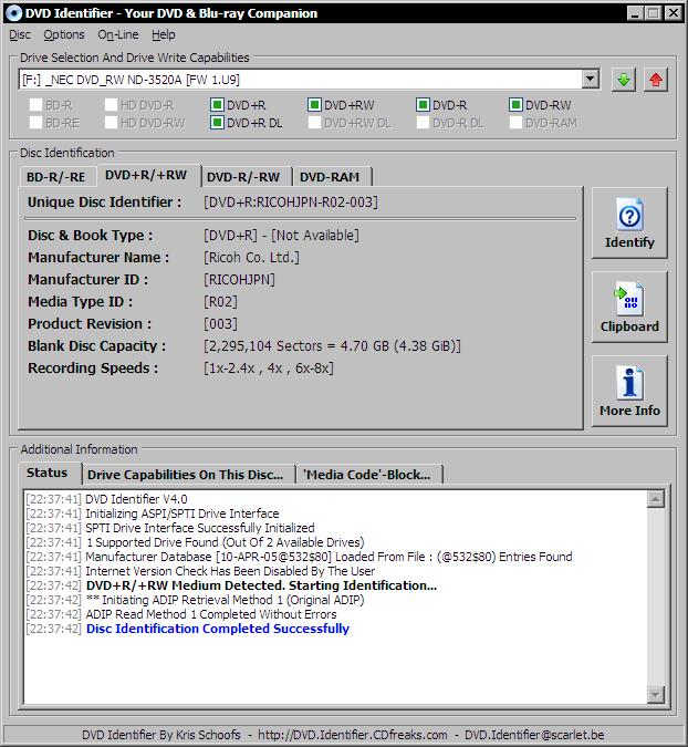 Software-update: DVD Identifier 4 0 - Computer - Downloads - Tweakers