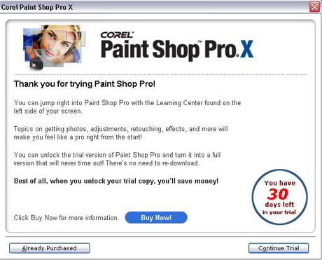 Paint Shop Pro X trail