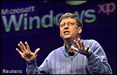 Bill Gates voor Windows XP logo