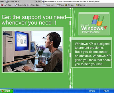 Windows XP op PowerMac reclamedingetje