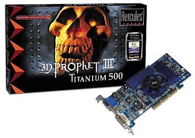 Hercules 3D Prophet III Titanium 500 doos & kaart