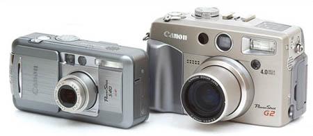 Canon Powershot S40 en Powershot G2