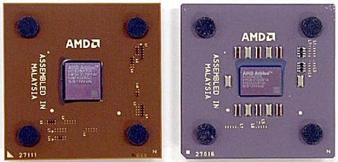 Athlon XP en Thunderbird naast elkaar