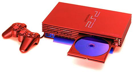 Sony Playstation 2 Vuurrood Photoshop knutselplaatje