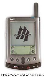 Palm V met MobileMotient modem