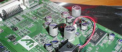 ATi Radeon 7500 stroomvoorziening