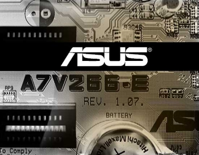 Asus A7V266-E closeup