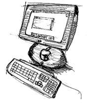 iMac schets