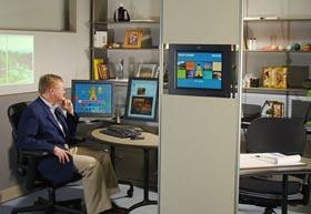 Bluecase kantoorwerkplek