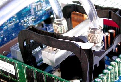 Waterkoelunit op Pentium 4
