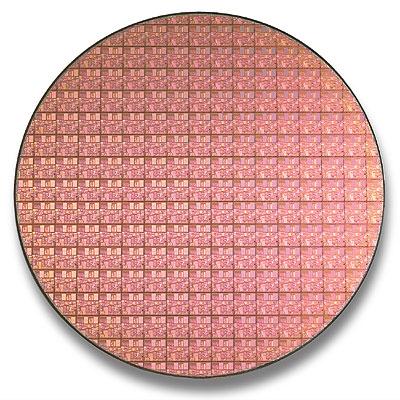 Intel Pentium 4 Northwood wafer (0,13 micron)