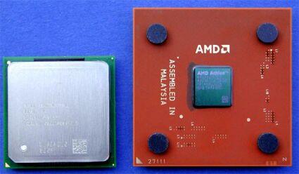 Pentium 4 naast Athlon XP