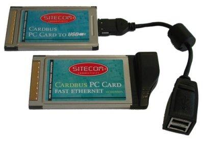 Sitecom USB en ethernet PC-cards