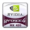 GeForce 4 MX 420 (klein) logo