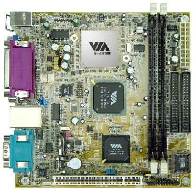 VIA Eden VT6010 mini-ITX moederbord