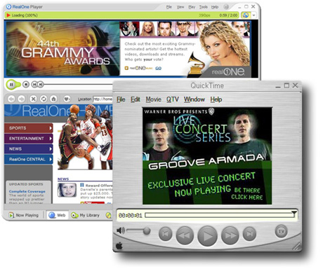 RealPlayer & QuickTime Player