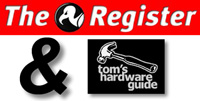 The Register & THG logo's gecombineerd