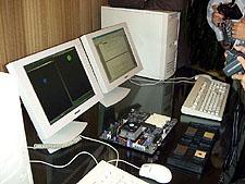AMD ClawHammer testsystemen op IDF (klein)