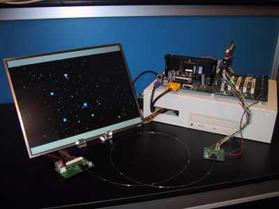 Optische verbinding LCD monitor - GPU