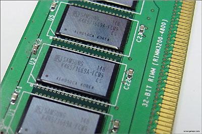Rambus RDRAM RIMM4200 module