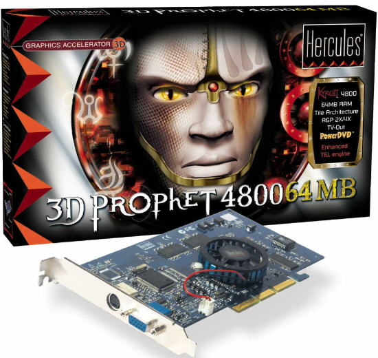 3D Prophet 4800 64MB (Box and Card)