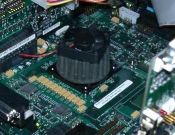 Intel Banias prototype (detail)