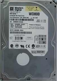 Western Digital 800BB hardeschijf