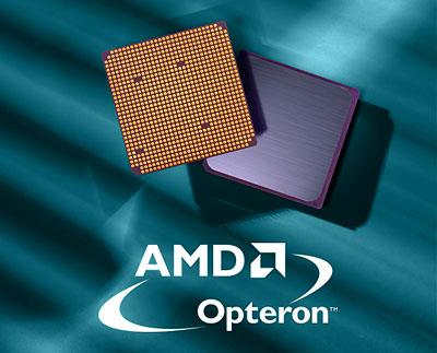 AMD Opteron chip en logo (groot, bg)