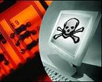 Virus - LCD met doodskop