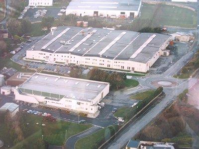 Dane-Elec fabriek Galway - luchtfoto