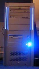 Lian-Li PC-6083A in het donker