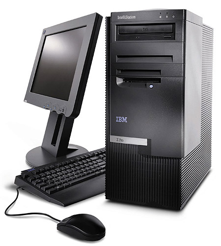 IBM Intellistation Zpro workstation perspic (groot)
