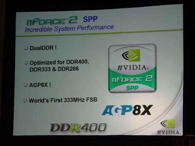nVidia nForce2 features (DDR333 FSB)