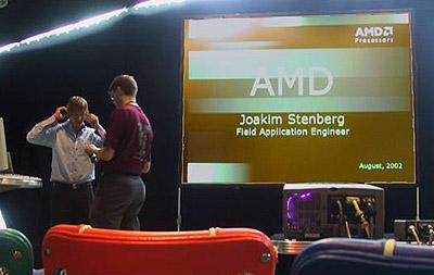 Foto AMD presentatie Assembly 2002