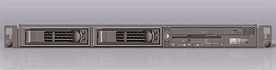 Newisys dual Opteron 1U rackmount - front