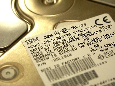 Server upgrades 31 aug: IBM 7200rpm SCSI harddisk