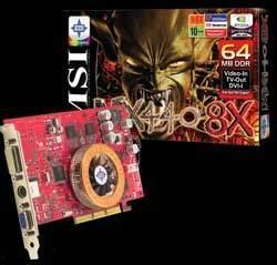 MSI GeForce4 MX 440 AGP8x