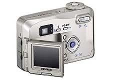 Pentax Optio 330 GS (achter)