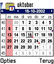 Nokia 7650 review: Agenda maandoverzicht