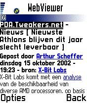 Nokia 7650 review: Tweakers.net PDA 1