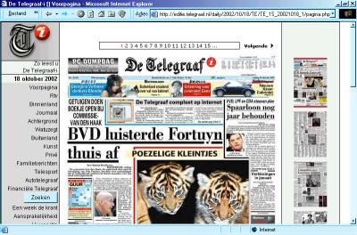 De Telegraaf online editie