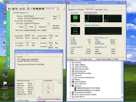 Pentium 4 3,06GHz als twee processors herkend door Windows XP (klein)