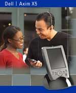 Dell Axim X5 PDA blije mensen (klein)